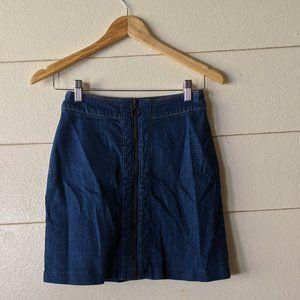 H&M Denim Skirt with Front Zipper